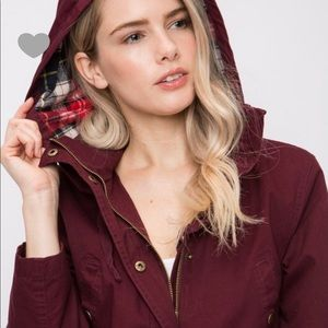 ⭐️ WOMEN'S LOVE TREE UTILITY JACKET PLAID HOODIE